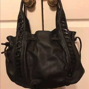 Handbags - Orvieto black leather bag